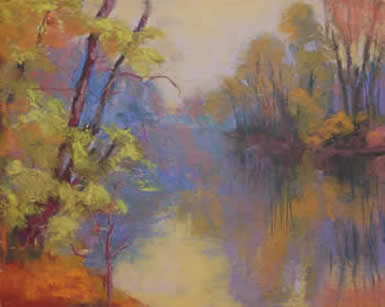 Ann Guidera-Matey pastels at Station Gallery