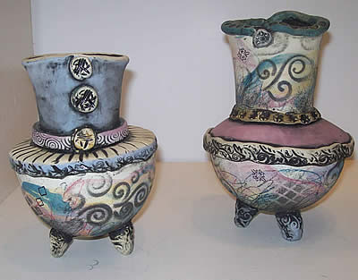 Colleen Zufelt ceramics at Station Gallery