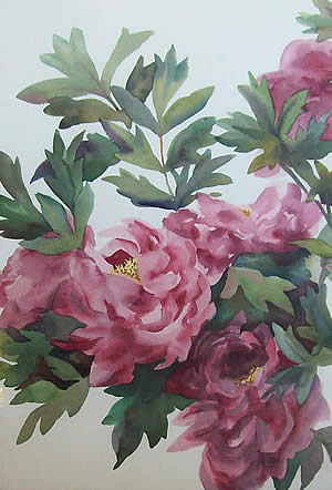 Marjorie Egee watercolors at Station Gallery