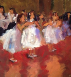 "Ed Bronstein ""Young Dancers"" at Station Gallery $650."
