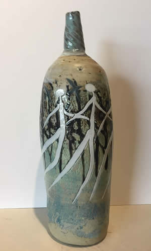 Mitch Lyons clay vessels at Station Gallery