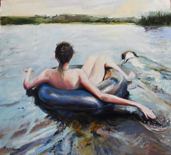 Gay Freeborn paintings at Station Gallery