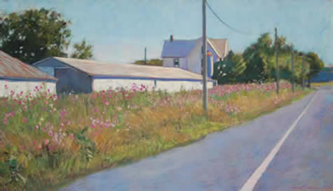 Laura Hickman pastels at Station Gallery