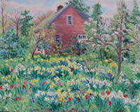 """Garden Spring"" by Carol Gray 16 x 20 $800. framed"