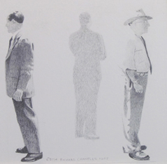 Richard Chandler Hoff drawings at Station Gallery
