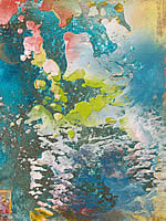 Barbara Straussberg encaustic paintings at Station Gallery