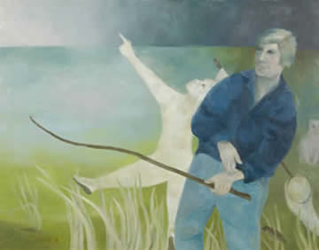 Elizabeth Borne paintings at Station Gallery
