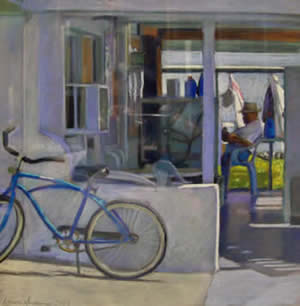 Laura Hickman pastel at Station Gallery