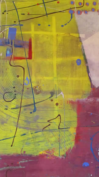 Mitch Lyons monoprints at Station Gallery