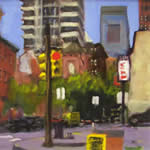 Ed Bronstein paintings at Station Gallery
