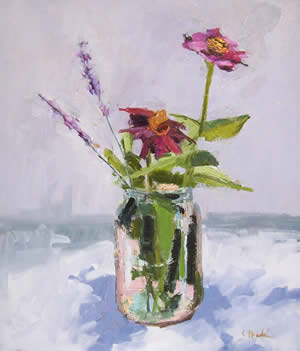 Kate Mundie paintings at Station Gallery