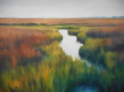 Michele Green paintings at Station Gallery