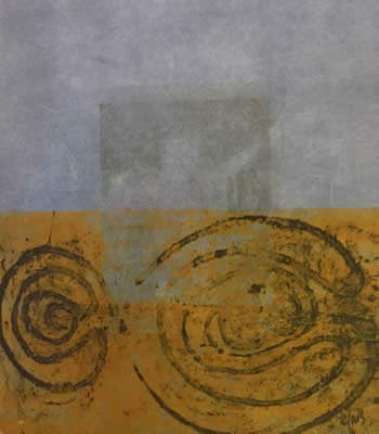 Mitch Lyons clay monoprints at Station Gallery
